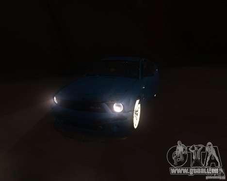 Shelby Mustang 2009 pour GTA San Andreas vue arrière