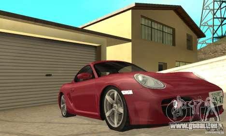 Porsche Cayman S pour GTA San Andreas vue de dessus