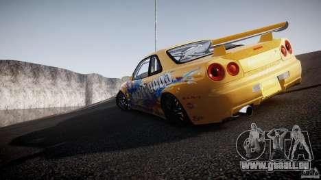 Nissan Skyline R34 GT-R Tezuka Goodyear D1 Drift für GTA 4 Innen