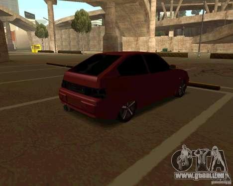 LADA 2112 coupé c. 2 pour GTA San Andreas sur la vue arrière gauche