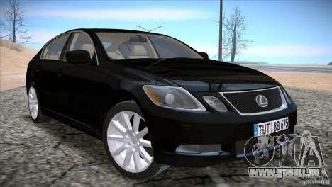 Lexus GS430 für GTA San Andreas zurück linke Ansicht