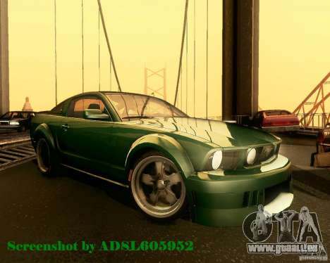 Ford Mustang GT 2005 Tunable für GTA San Andreas Seitenansicht