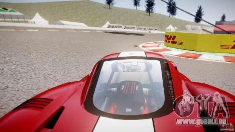 Ferrari FXX pour GTA 4 est une vue de l'intérieur