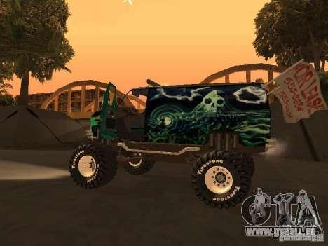 Ford Grave Digger pour GTA San Andreas vue de droite