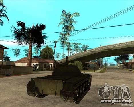 T-55 pour GTA San Andreas sur la vue arrière gauche