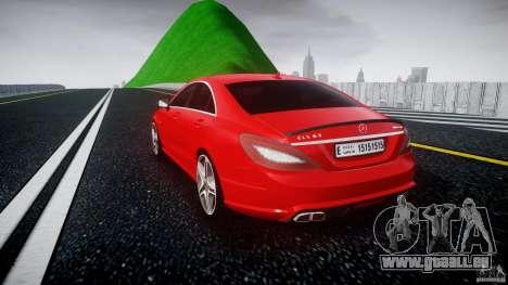Mercedes-Benz CLS 63 AMG 2012 für GTA 4 hinten links Ansicht