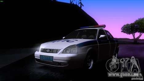 LADA Priora 2170 DPS pour GTA San Andreas laissé vue