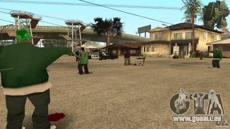 Sur la rue Grove a été attaquée par les Ballas pour GTA San Andreas troisième écran