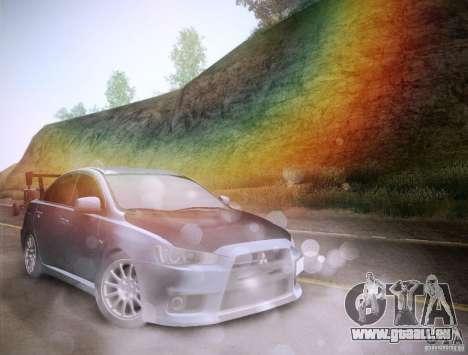 Mitsubishi Lancer Evolution Drift Edition für GTA San Andreas Innen