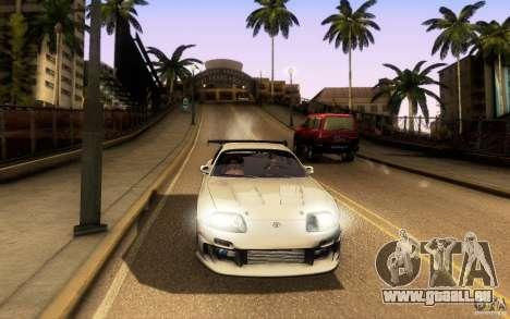 Toyota Supra Top Secret für GTA San Andreas Unteransicht