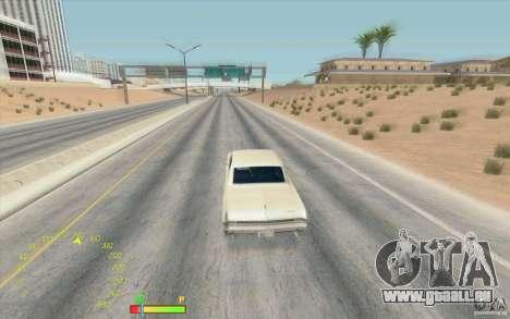 Compteur de vitesse et de carburant pour GTA San Andreas deuxième écran