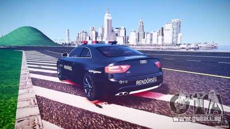 Audi S5 Hungarian Police Car black body für GTA 4 obere Ansicht