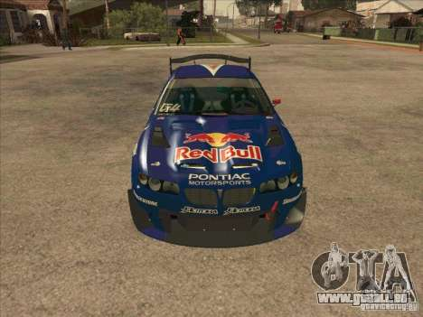 Pontiac GTO Red Bull pour GTA San Andreas vue arrière