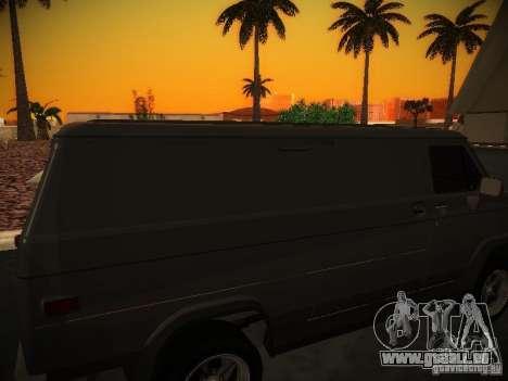 GMC Vandura pour GTA San Andreas vue intérieure