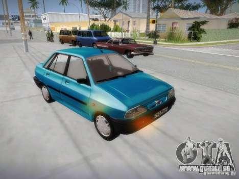 Kia Pride 131 pour GTA San Andreas vue arrière
