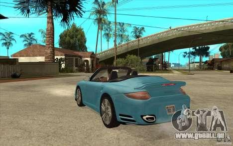 Porsche 911 Cabriolet 2010 für GTA San Andreas zurück linke Ansicht