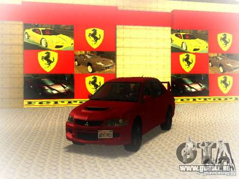 Mitsubishi Lancer Evolution IX MR 2006 für GTA San Andreas linke Ansicht