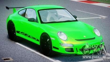 Porsche 997 GT3 RS pour GTA 4 est une vue de l'intérieur