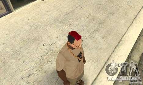 Red Mohawk and Black Stubbles pour GTA San Andreas deuxième écran