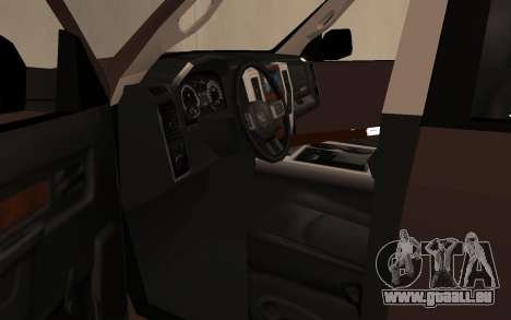 Dodge Ram 3500 pour GTA San Andreas vue arrière
