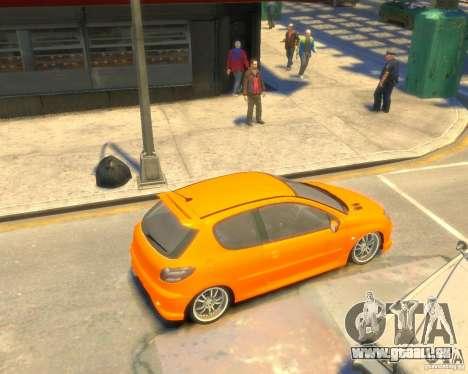 Peugeot 206 GTI pour GTA 4 est un droit