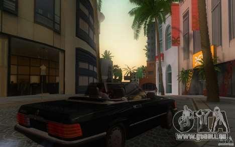 Mercedes-Benz 350 SL Roadster für GTA San Andreas Rückansicht