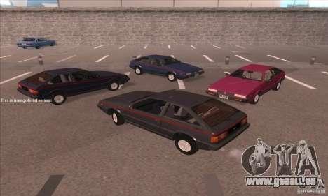Isuzu Piazza pour GTA San Andreas vue arrière