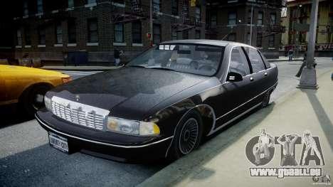 Chevrolet Caprice FBI v.1.0 [ELS] für GTA 4 Rückansicht
