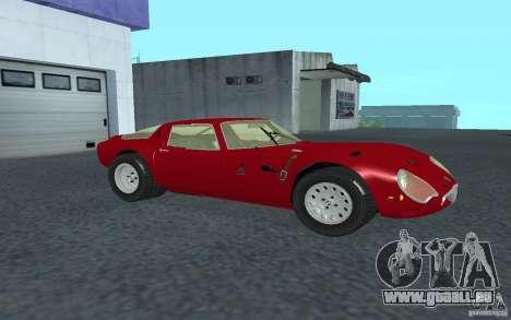 Alfa Romeo Gulia TZ2 1965 pour GTA San Andreas laissé vue