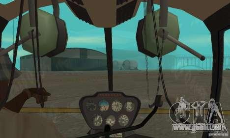 Robinson R44 Raven II NC 1.0 4 de la peau pour GTA San Andreas vue intérieure