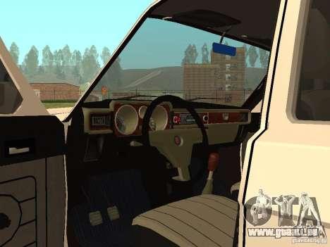 31022 Volga gaz 4 x 4 pour GTA San Andreas vue arrière