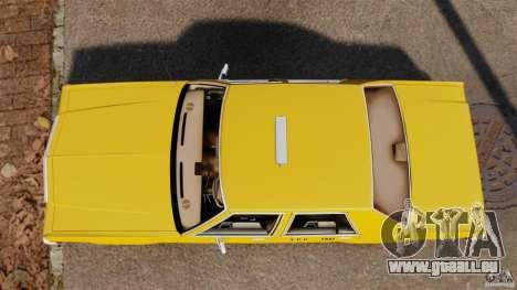 Ford LTD Crown Victoria 1987 L.C.C. Taxi pour GTA 4 est un droit