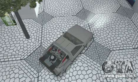 DeLorean DMC-12 (BTTF2) pour GTA San Andreas sur la vue arrière gauche