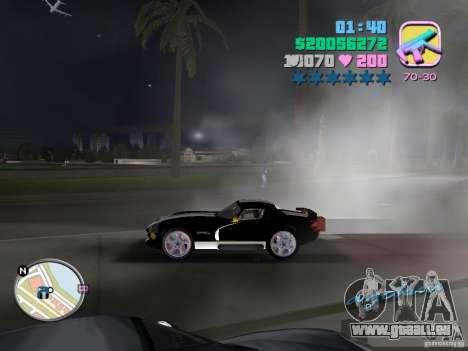 Dodge Viper Hennessy 800 pour GTA Vice City vue arrière