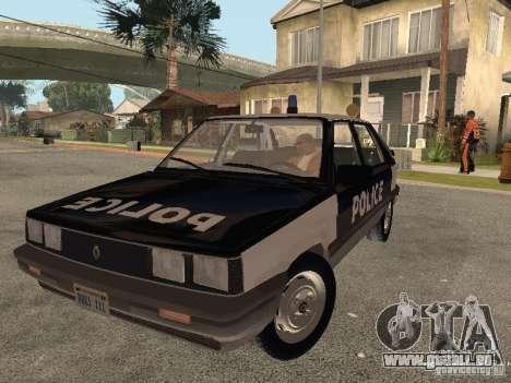 Renault 11 Police für GTA San Andreas Rückansicht