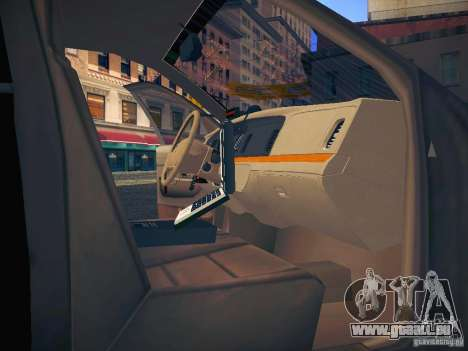 Ford Crown Victoria Police Intercopter pour GTA San Andreas salon