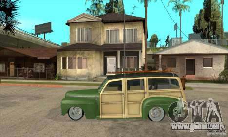 Ford Woody Custom 1946 pour GTA San Andreas laissé vue