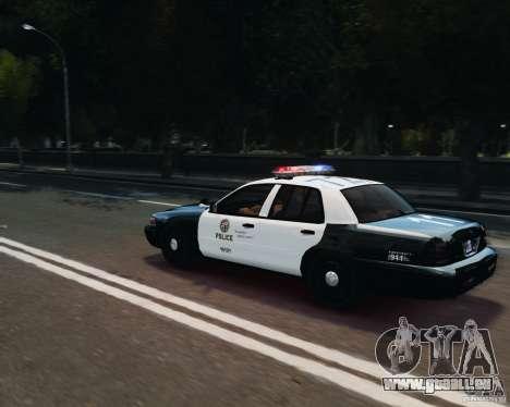 Ford Crown Victoria LAPD pour GTA 4 est un côté