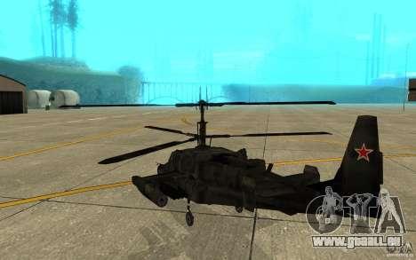 Kamov KA 50 Dlack Shark für GTA San Andreas rechten Ansicht