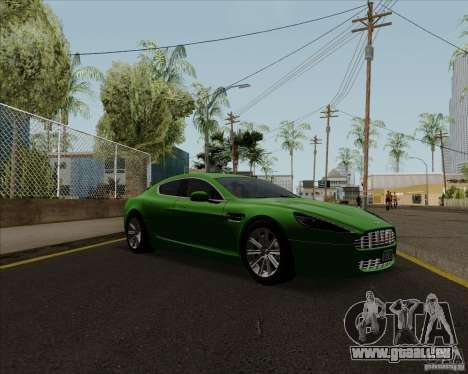 Aston Martin Rapide 2010 V1.0 für GTA San Andreas zurück linke Ansicht