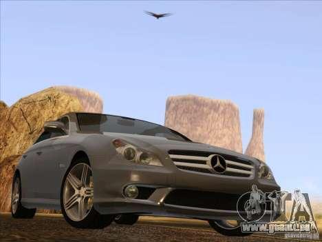 Mercedes-Benz CLS63 AMG für GTA San Andreas Rückansicht