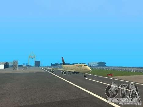 Boeing 747-400 Delta Airlines für GTA San Andreas linke Ansicht
