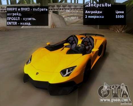 Lamborghini Aventador J TT Black Revel pour GTA San Andreas vue de côté