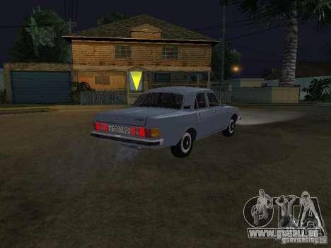 GAZ 3102 pour GTA San Andreas sur la vue arrière gauche