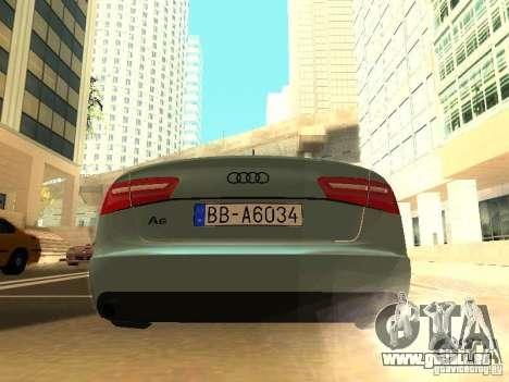 Audi A6 Stanced pour GTA San Andreas vue de droite