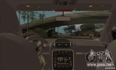 Porsche Cayenne 2010 pour GTA San Andreas vue intérieure
