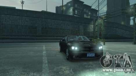 Dodge Charger 2007 SRT8 für GTA 4 Rückansicht
