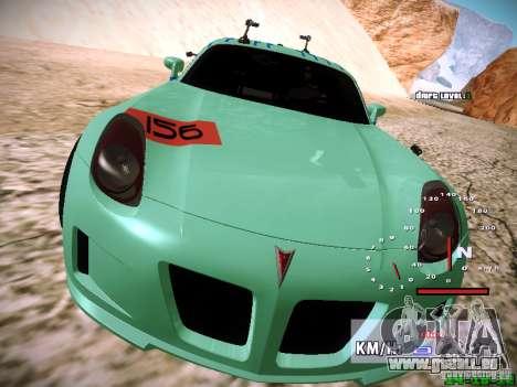 Pontiac Solstice Falken Tire pour GTA San Andreas vue de dessous