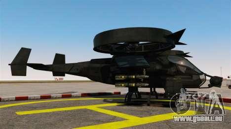 Ein Kampfhubschrauber AT-99 Scorpion für GTA 4 linke Ansicht
