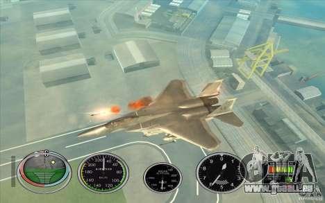 Lancement rapide de la fusée à Hydra et Hunter pour GTA San Andreas troisième écran